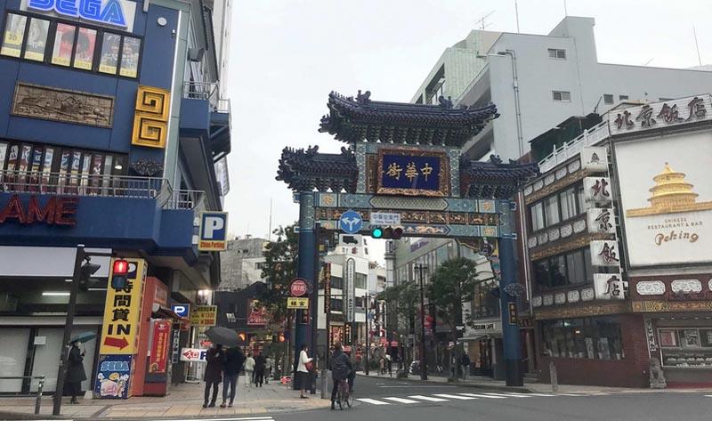 人通りの少ない横浜中華街
