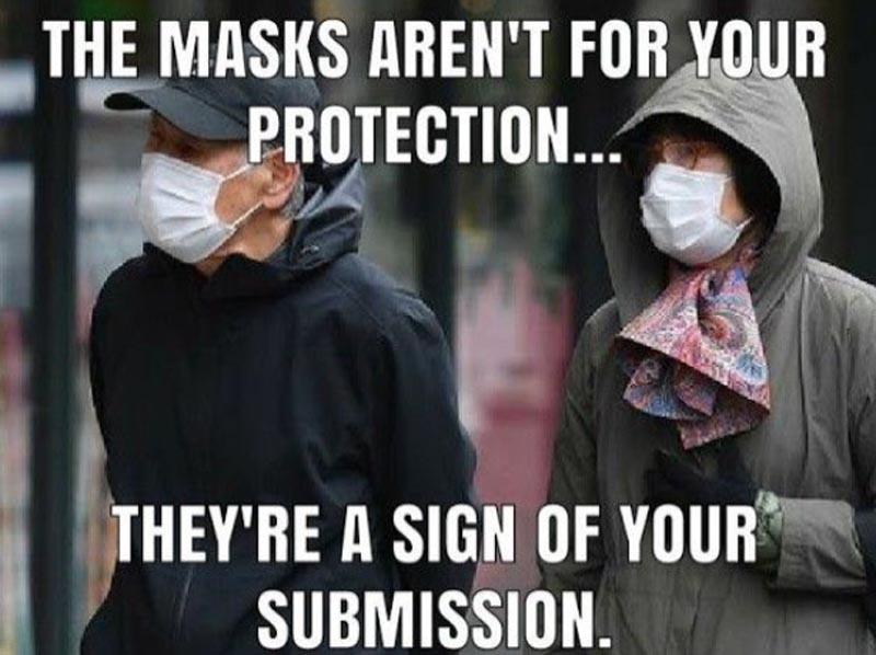 危険なマスク常用
