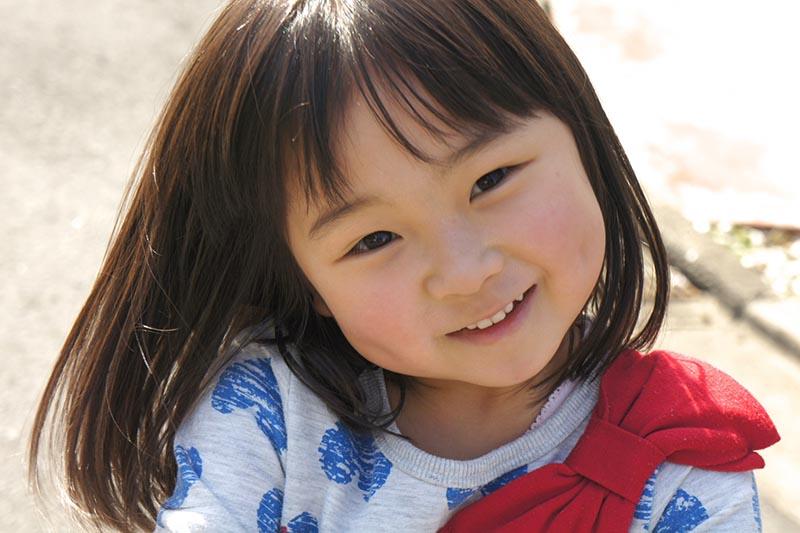 子供の素直な笑顔