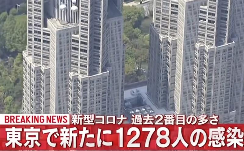 東京都1278人の感染者数