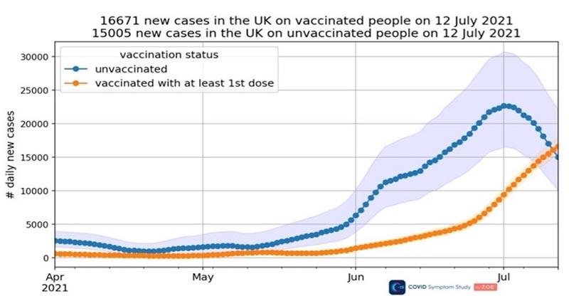 ワクチン接種後の感染者数