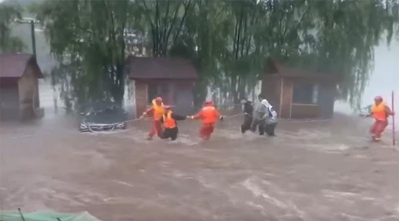 北京での洪水